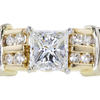 1.06 ct. Princess Cut Bridal Set Ring #3