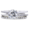 1.14 ct. Round Cut Bridal Set Ring, G, I1 #3