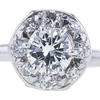 0.76 ct. Round Cut Halo Ring, H, VS1 #4