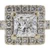 0.93 ct. Princess Cut Bridal Set Ring, E-F, I1 #1