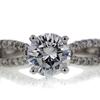 1.21 ct. Round Cut Bridal Set Ring #2