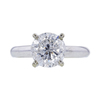 2.12 ct. Round Cut Solitaire Ring, H, I3 #3