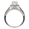 1.0 ct. Round Cut Halo Ring, G, I1 #4