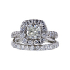 1.05 ct. Cushion Cut Bridal Set Ring, J, SI1 #3
