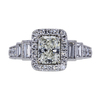 1.04 ct. Radiant Cut Halo Ring, K, SI2 #3