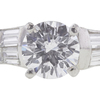 1.22 ct. Round Cut 3 Stone Ring, D, VS1 #4