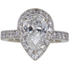 1.72 ct. Pear Cut Bridal Set Ring, G, SI2 #4