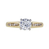 0.90 ct. Round Cut Solitaire Ring, H, SI2 #4