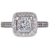 1.29 ct. Princess Cut Halo Ring, G, SI2 #3