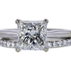 1.72 ct. Princess Cut Bridal Set Ring, I, VVS2 #3
