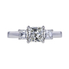 1.22 ct. Princess Cut 3 Stone Ring, J, I1 #3