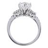 1.11 ct. Round Cut Bridal Set Ring, F, VVS1 #3