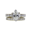 1.14 ct. Marquise Cut Bridal Set Ring, J, SI1 #3