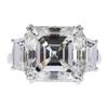 Art Deco GIA 7.31 ct. Asscher Cut 3 Stone Ring, I, I1 #3