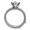 0.91 ct. Princess Cut Bridal Set Ring, H, VS2 #4