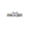 0.98 ct. Princess Cut Bridal Set Ring, E-F, I1 #2