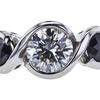 0.73 ct. Round Cut 3 Stone Ring, H-I, VS1 #1