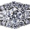 1.01 ct. Round Cut Bridal Set Ring, H, SI2 #4