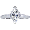 1.00 ct. Marquise Cut 3 Stone Ring #1