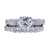 0.97 ct. Round Cut Bridal Set Ring, G, I2 #3