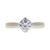 0.71 ct. Round Cut Solitaire Ring, F, SI2 #3