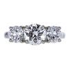 1.05 ct. Round Cut 3 Stone Ring, G, VS2 #3