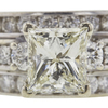 2.14 ct. Princess Cut Bridal Set Ring, M, I1 #4