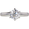1.0 ct. Round Cut Solitaire Ring, D, SI1 #3