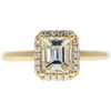 1.19 ct. Emerald Cut Halo Ring, M-Z, VS1 #3