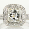 2.02 ct. Princess Cut Bridal Set Ring #2