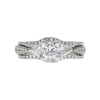 1.11 ct. Princess Cut Bridal Set Ring, F, VVS1 #3