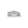 1.17 ct. Round Cut Bridal Set Ring, K, VS2 #3