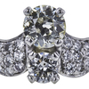 1.05 ct. Old European Cut Bridal Set Ring, M-Z, VS2 #4