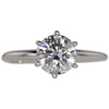 1.31 ct. Round Cut Solitaire Ring, H, I1 #3