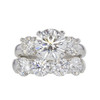 2.01 ct. Round Cut Bridal Set Ring, H, VS2 #3
