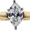 1.52 ct. Marquise Cut Solitaire Ring, H, I1 #1