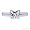 1.12 ct. Princess Cut Solitaire Ring, I, VVS2 #3