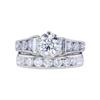 1.31 ct. Round Cut Bridal Set Ring, I, I1 #3