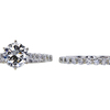 1.41 ct. Round Cut Bridal Set Ring, I, VS2 #3