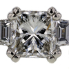 1.56 ct. Princess Cut 3 Stone Ring #2