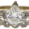 1.0 ct. Pear Cut Bridal Set Ring, J, SI1 #3
