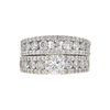 0.6 ct. Round Cut Bridal Set Ring, F-G, SI2 #2