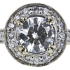 1.29 ct. Round Cut Bridal Set Ring #4