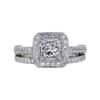 0.97 ct. Princess Cut Bridal Set Ring, F, VS2 #2