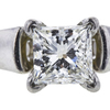 1.01 ct. Princess Cut Bridal Set Ring, J, SI2 #1