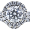 1.25 ct. Round Cut Bridal Set Ring, F, SI1 #3