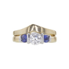 0.7 ct. Round Cut Bridal Set Ring, E, VS1 #3