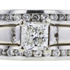 0.97 ct. Princess Cut Bridal Set Ring, H, SI2 #1