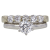 0.52 ct. Round Cut Bridal Set Ring, F, VS2 #3