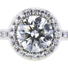 1.14 ct. Round Cut Bridal Set Ring, I, SI1 #4